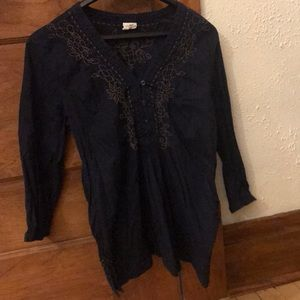 Long Sleeved Cotton Embroidered Top H&M